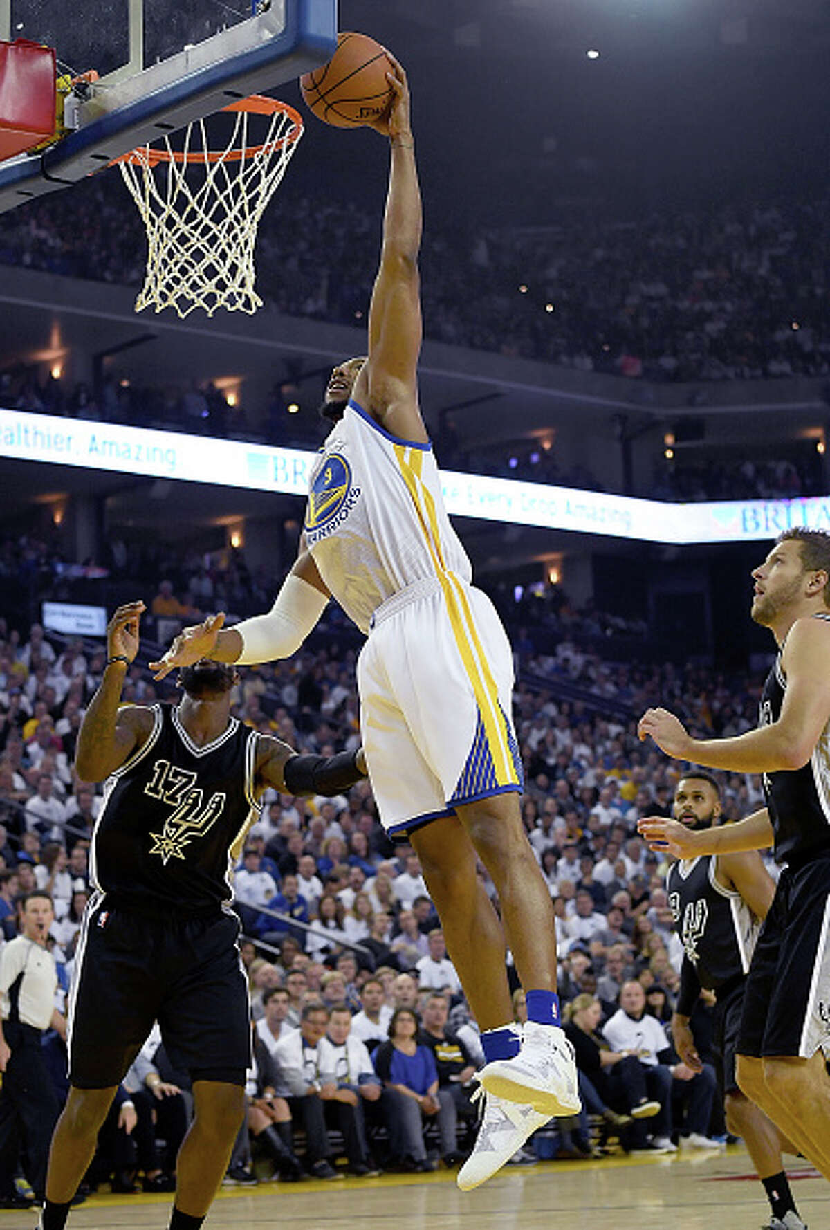 Mar. 11 and 29 - David West (Golden State Warriors) A key reserve and powerful locker room presence on last season's 67-win Spurs, West signed with the Warriors in the offseason to continue his ring hunt.