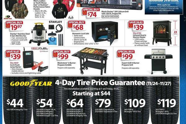 A screenshot of Walmart's Black Friday circular advertisements for 2016.