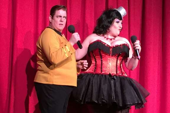 �Dandy� is a quarterly show produced and hosted by Leigh Crow and her partner of eight years, Ruby Vixen. Much like a drag queen show, drag king performance involves women performing while dressed as men.