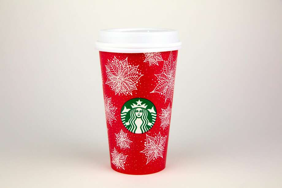 Starbucks' red cups are back. All 13 designs were drawn by customers. Photo: Starbucks Corporation