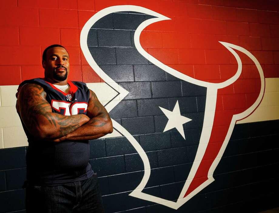 Houston Texans offensive lineman Duane Brown, photographed at NRG Stadium, Tuesday,Nov. 8, 2016 in Houston,  ( Karen Warren / Houston Chronicle ) Photo: Karen Warren, Staff Photographer / 2016 Houston Chronicle