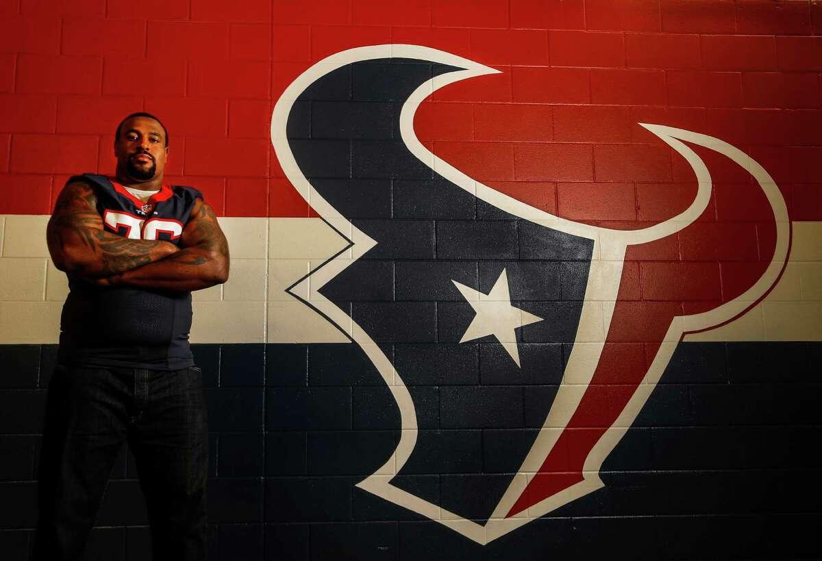 Houston Texans offensive lineman Duane Brown, photographed at NRG Stadium, Tuesday,Nov. 8, 2016 in Houston, ( Karen Warren / Houston Chronicle )