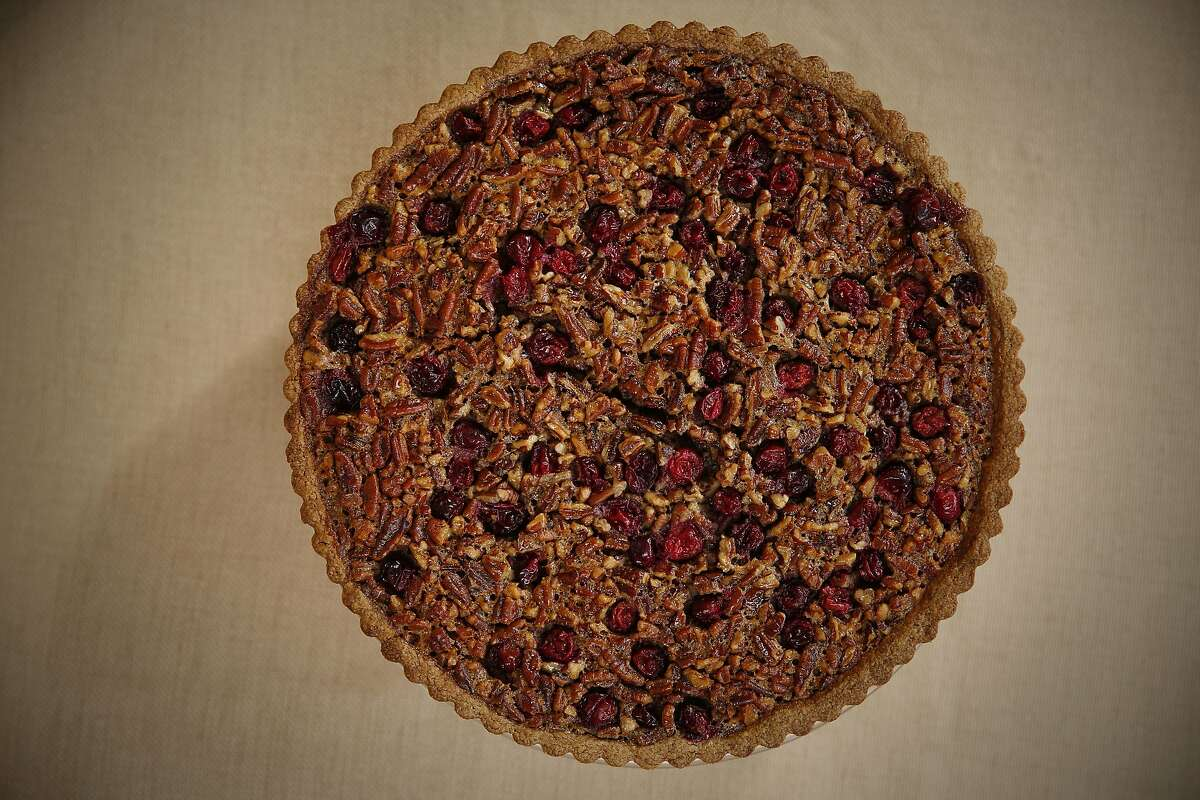 A Gingerbread, Pecan, and Cranberry Tart is seen on Wednesday, Nov. 9, 2016 in San Francisco, Calif.
