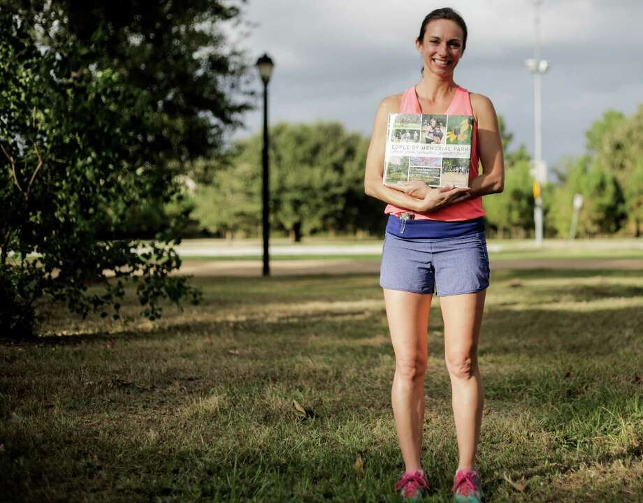 "Stacy Holden, author of the new book ""People of Memorial Park,"" began running in the park with her family when she was 12.  Photo: Elizabeth Conley, Staff / © 2016 Houston Chronicle"