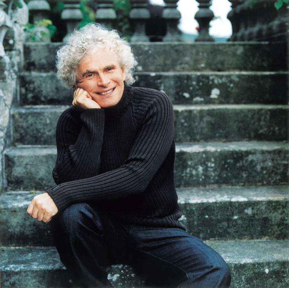 Sir Simon Rattle conducted the Berlin Philharmonic Tuesday and Wednesday in Davies Symphony Hall Photo: Courtesy SF Symphony