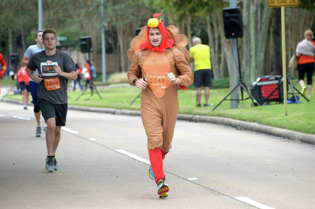 Hundreds of runners turn out for the 2015 Katy Family YMCA Turkey Trot. The upcoming race is expected to draw a large crowd.