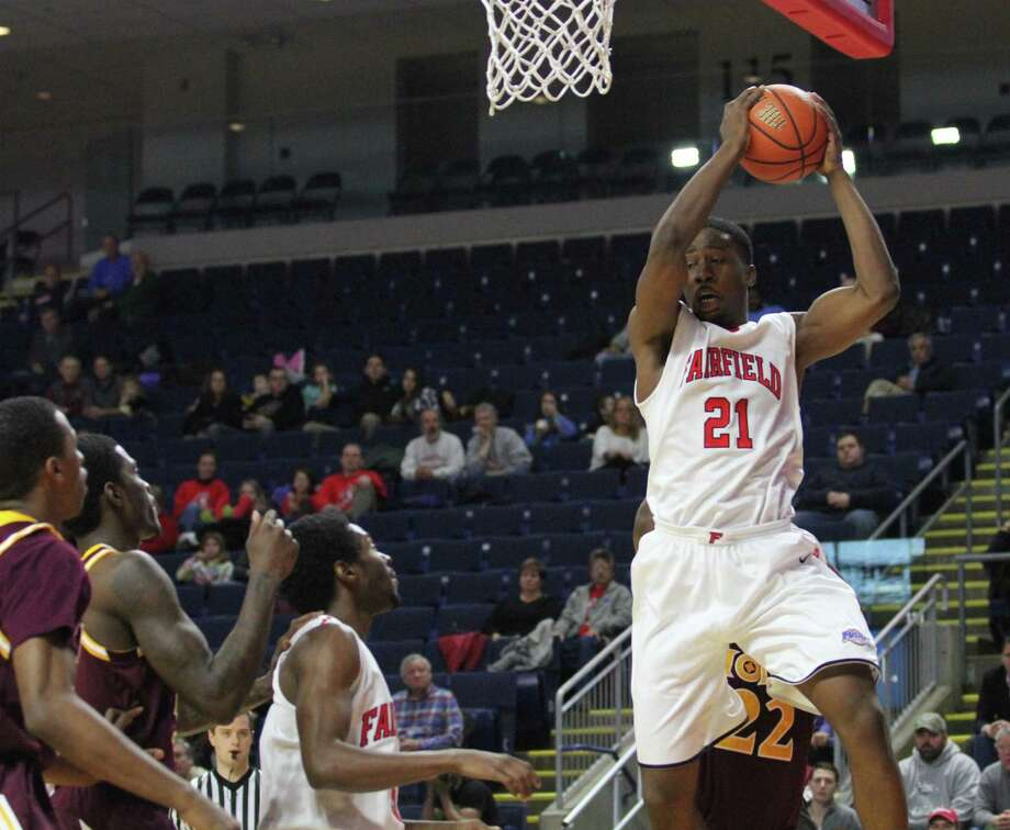 Fairfield's Amadou Sidibe (21) who missed all of last season with a knee injury is 100 percent and ready to go as the Stags begin the 2016-17 season tonight at the Webster Bank Arena against Sacred Heart. Photo: BK Angeletti / B.K. Angeletti / Connecticut Post freelance B.K. Angeletti