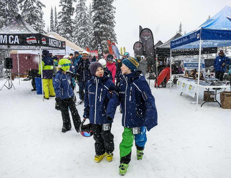 Enjoying the Coldsmoke Festival at Whitewater Ski Resort. Photo: Margo Pfeiff, Special To The Chronicle