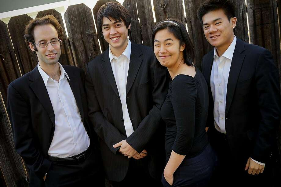 The Telegraph Quartet plays at Noe Valley Ministry in San Francisco on Sunday, May 20. Photo: Telegraph Quartet