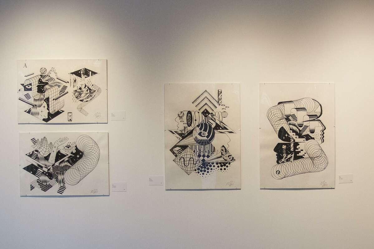 """Omni Chroma Drama"" featurs works by Spanish street artist Muro."