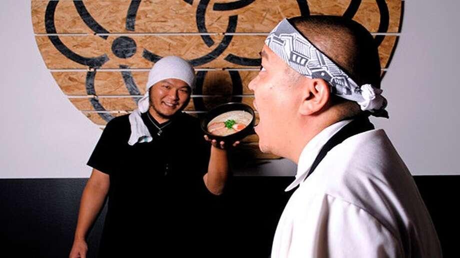 "Austin-based Ramen Tatsu-ya owner / co-executive chef Tatsu Aikawa and his partner and co-executive chef Takuya ""Tako"" Matsumoto are opening a branch of the ramen restaurant in Houston at 1722 California. Photo: Ramen Tatsu-ya"