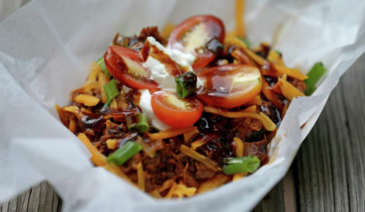 Chopped Beef Frito Pie at Two Bros. BBQ Market.