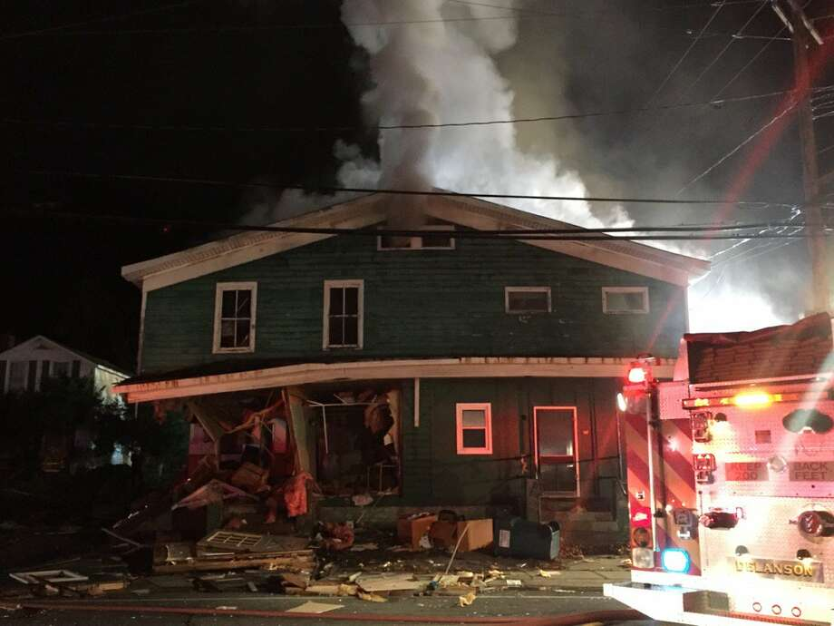 Fire destroyed a Main Street, Delanson, house on Thursday, Nov. 10, 2016. (Bethany Bump / Times Union)