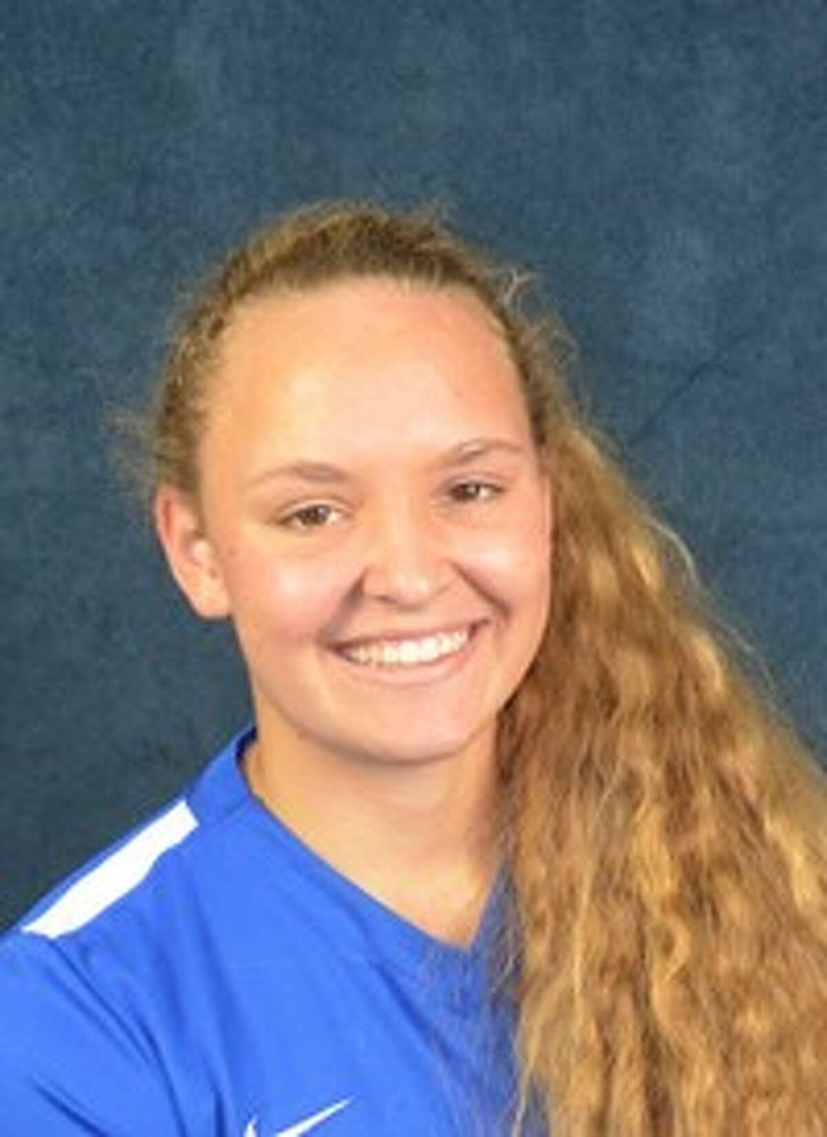 LaTourneau womens soccer player Rebekah Stevenson. Conroe High School graduate 2016.
