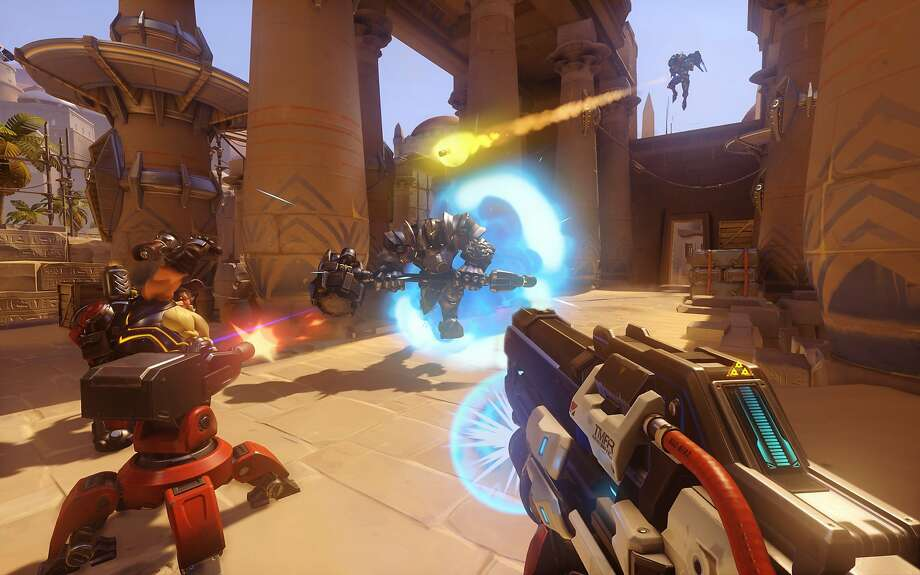 """The new league will hold competitions in """"Overwatch,"""" a shooting game that's just over a year old. Photo: Handout, McClatchy-Tribune News Service"""