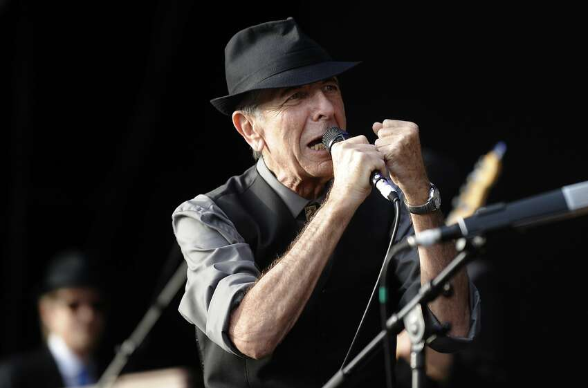 Leonard Cohen performs during the International Festival of Benicassim, Spain, in 2008.