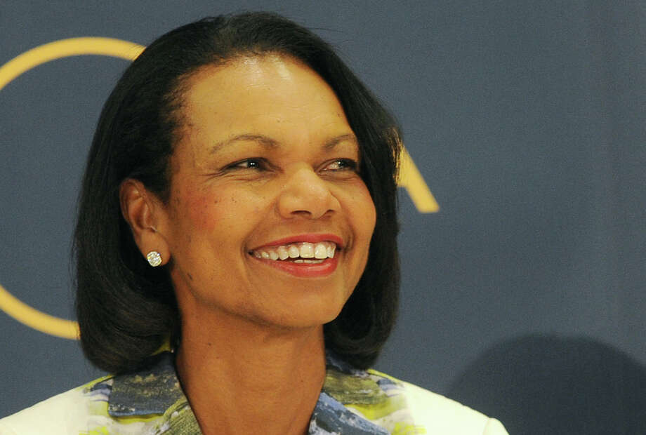 Former U.S. Secretary of State Condoleezza Rice attends a public debate on democracy and the aftermath of the British departure from the EU, in Warsaw, Poland, Wednesday, June 29, 2016. (AP Photo/Alik Keplicz) Photo: Alik Keplicz, STR / Copyright 2016 The Associated Press. All rights reserved. This material may not be published, broadcast, rewritten or redistribu