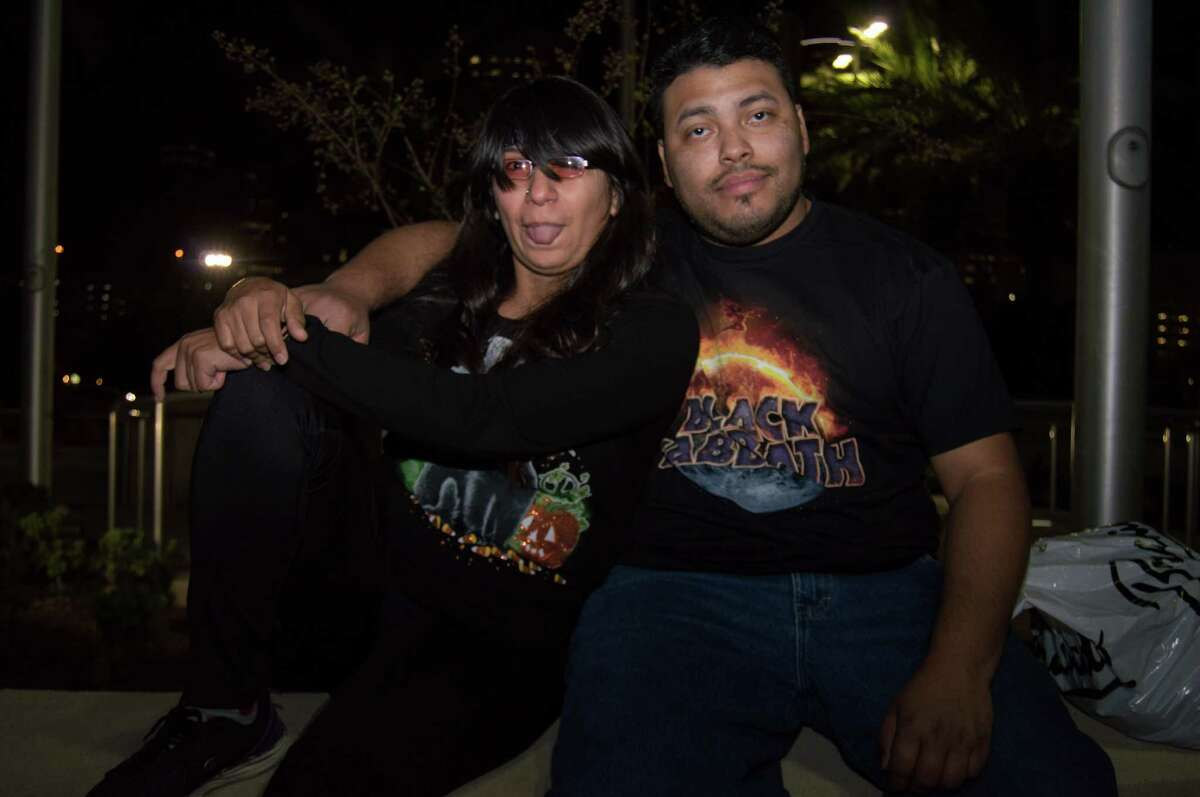 Black Sabbath fans at Toyota Center on Nov. 10.