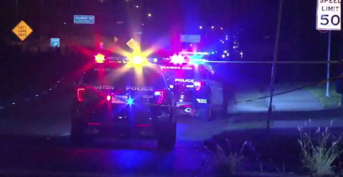 One man died and two others were wounded in a shooting about 8 p.m Thursday outside at an Exxon gasoline station at 6610 South Sam Houston Parkway West in southwest Houston. (Metro Video)