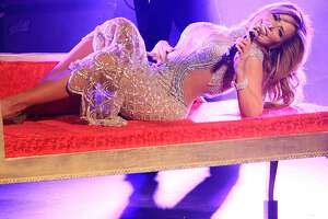 Gloria Trevi performs as part of 'El Amor World Tour' at Coliseo Jose M. Agrelot on November 14, 2015 in San Juan, Puerto Rico