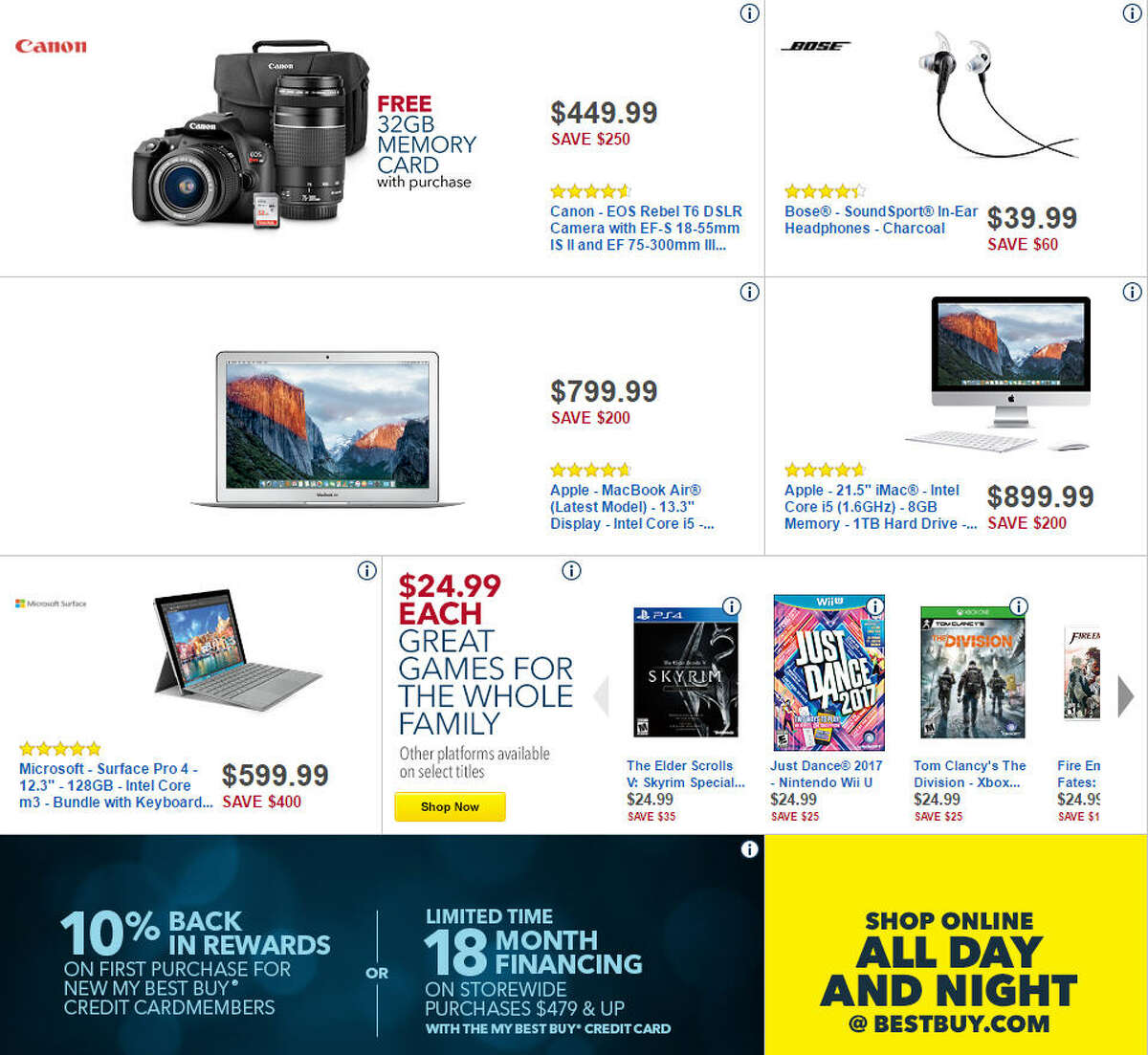 Best Buy has released its 48-page Black Friday 2016 ad circular. All prices and promotions are subject to change and availability, based on the retailer's determination.