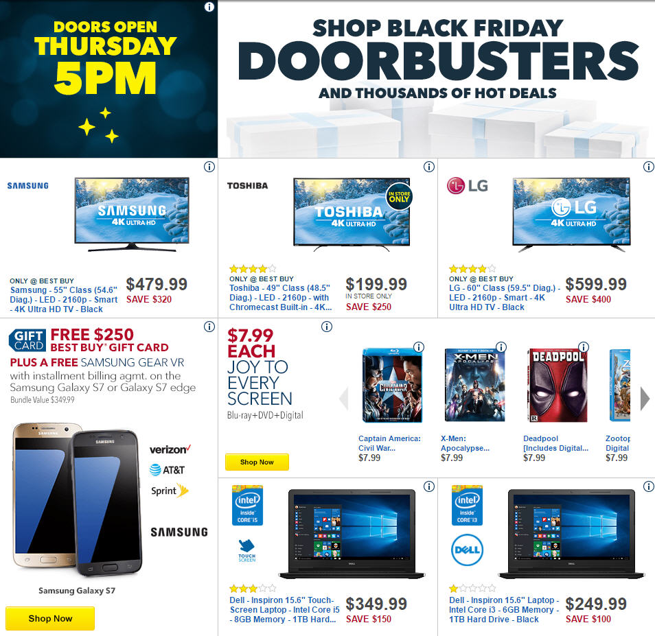 Best Buy S Black Friday 2016 Doorbuster Ad Circular Released See All 48 Pages