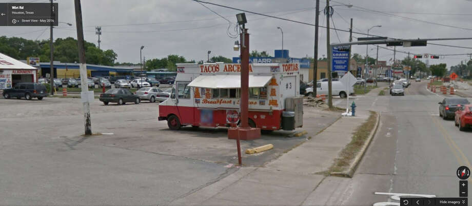 Tacos Arcelia 2102 Wirt Road, Houston, TX 77055  Demerits: 79 Inspection Highlights: Food not safe for human consumption. Photo: Google Maps Screen Shot
