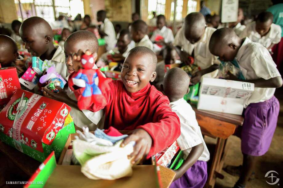 Empty shoeboxes were filled with toys, school supplies, hygiene items as part of the Samaritan's Purse project. Photo: N/a
