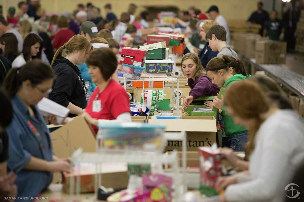 Volunteers in Houston opened several sites around Cypress, Klein and Tomball during the holidays to serve as drop-off sites for gift-filled shoeboxes.