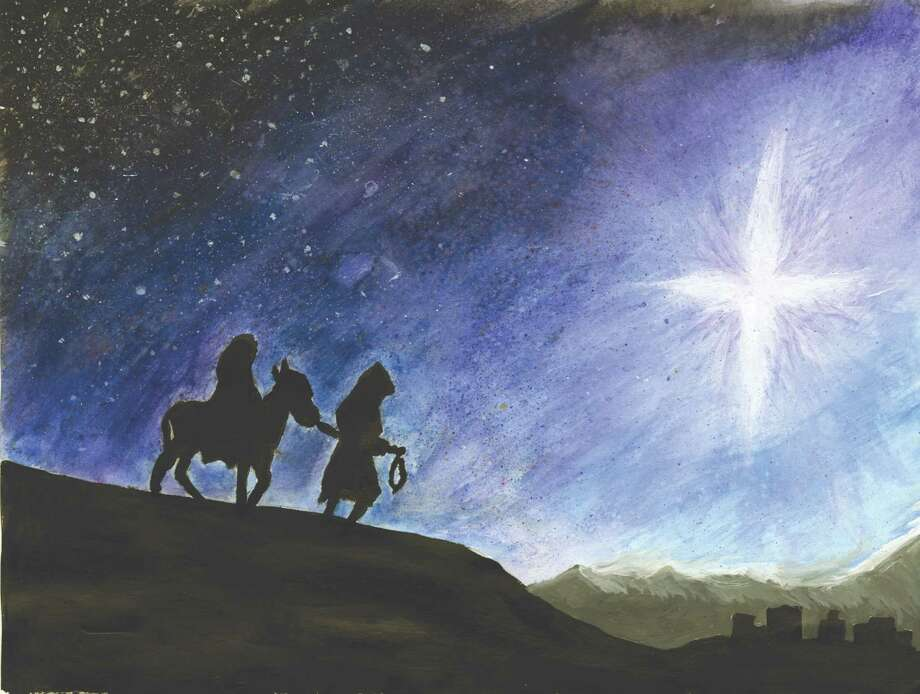 Grand-prize winning card drawn by Lexie Mulligan, a ninth-grader at Loudonville Christian School, featured on the front page of the Times Union in 2015