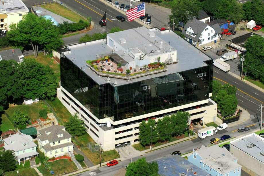 WWE's headquarters are located at 1241 East Main St. in Stamford. Photo: Morgan Kaolian /AEROPIX / ST / Morgan Kaolian AEROPIX