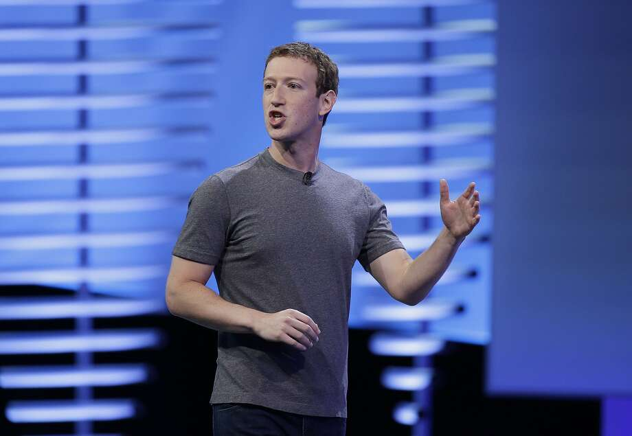 "FILE - In this Tuesday, April 12, 2016, file photo, Facebook CEO Mark Zuckerberg delivers the keynote address at the F8 Facebook Developer Conference, in San Francisco. In an interview Thursday, Nov. 10, 2016, with ""The Facebook Effect"" author David Kirkpatrick, Zuckerberg said the idea that Facebook influenced the outcome of the U.S. election is a ""crazy idea.""  Photo: Eric Risberg, Associated Press"