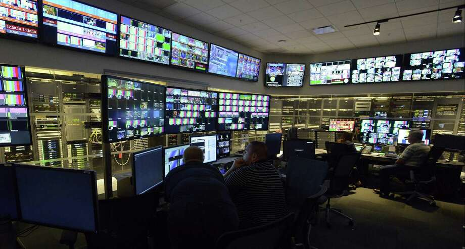 Hundreds of broadcast feeds are monitored in the Broadcast Operations Center at NBC Sports Group's headquarters at 1 Blachley Road in Stamford. NBC Sports has received $26 million in state aid through the First Five Plus program. Photo: Matthew Brown / Hearst Connecticut Media / Stamford Advocate