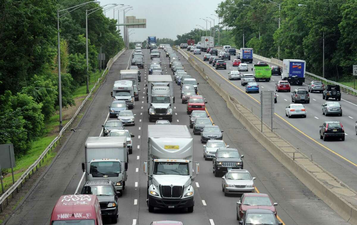 Holiday traffic jam on I-95 northbound in Greenwich, Conn., Thursday, July 2, 2015.