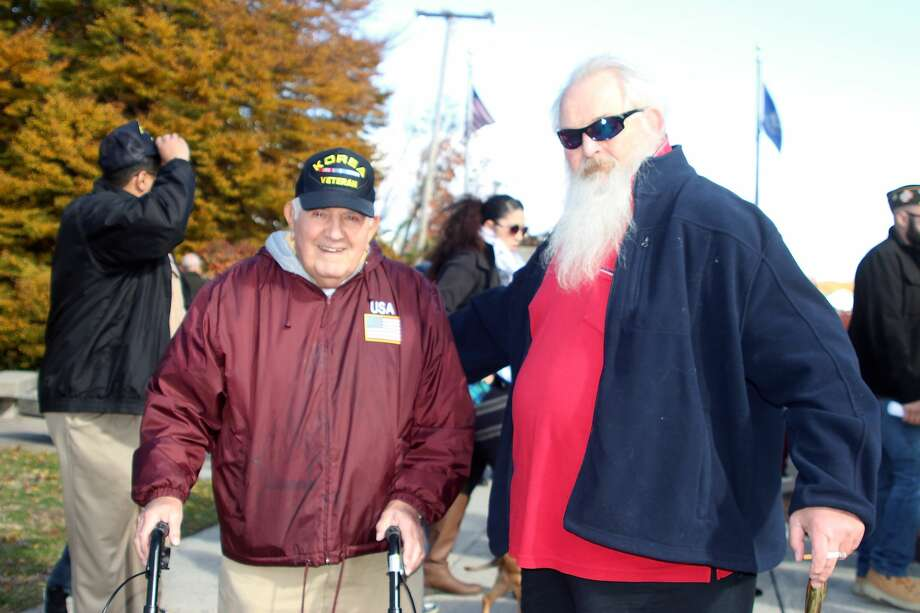 Danbury honored veterans and active military personnel during a Veterans Day ceremony onNovember 11, 2016at the War Memorial in Rogers Park on Main Street. Were you SEEN? Photo: Zaineb Haroon