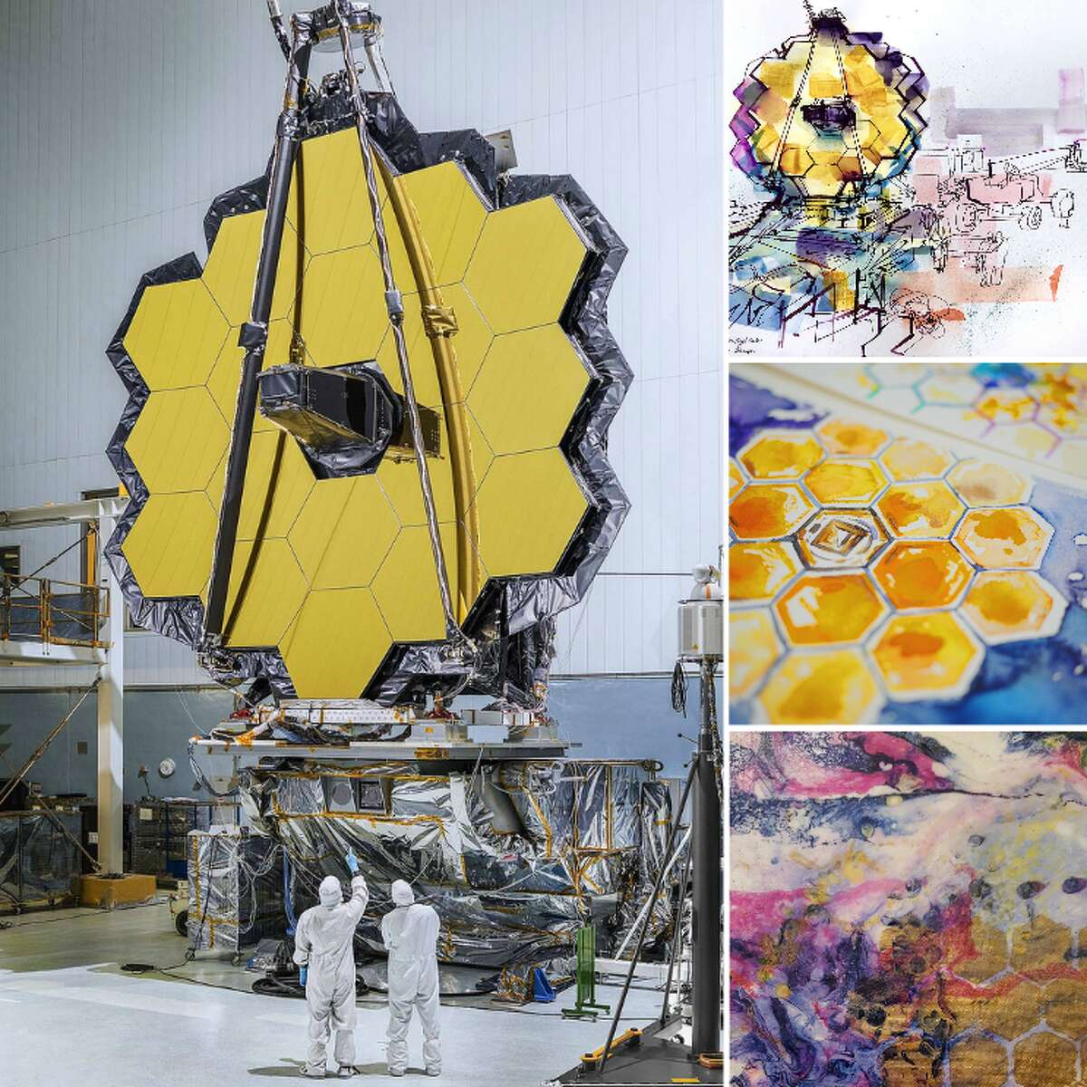NASA recently invited artists to be inspired by their James Webb Telescope. Click through to see some of their creations.