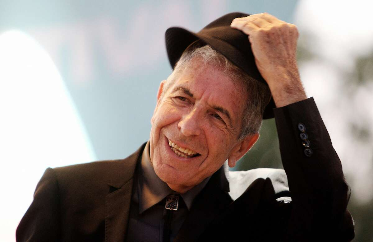 Leonard Cohen performing during the Nice Jazz Festival in France.