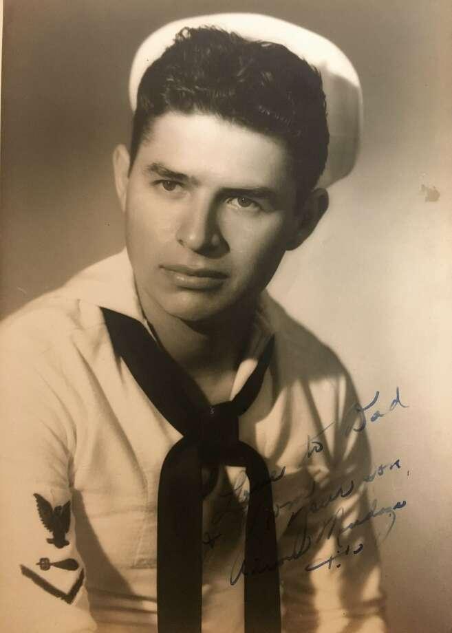 Aaron Mendoza in his Navy uniform during WWII Photo: Aaron Mendoza