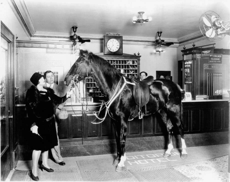 """Silent-film actress Betty Rand brought Phantom """"The Flying Wild Horse"""" to the Auditorium Hotel in 1927 to film an adaptation of Goethe's """"Faust."""" Photo: Courtesy: Michaeline """"Miki"""" Lusk Norton / handout"""