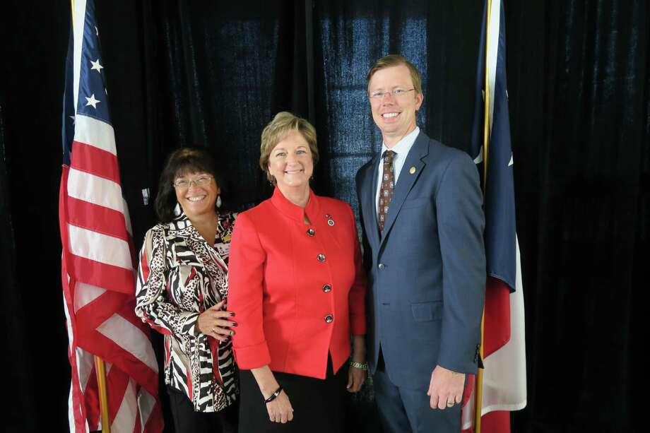 NSRW President Gail McKinnon, Louisiana State Senator Sharon Hewitt and Texas State Representative Will Metcalf pictured at the November meeting of the North Shore Republican Women.