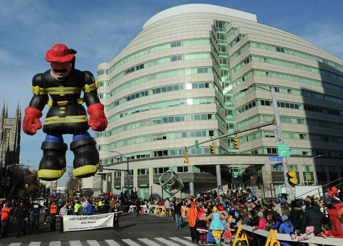 A scene from a past UBS Parade Spectacular. This year's event takes place Sunday, Nov. 20, in downtown Stamford.