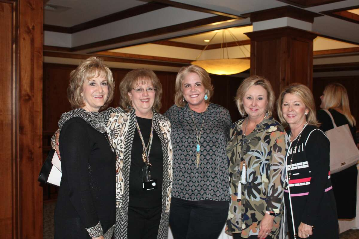 Buckner benefit: Lanise Davidson, from left, Romae Bell, Karen Evans, Pam Cunningham and Sue Courts