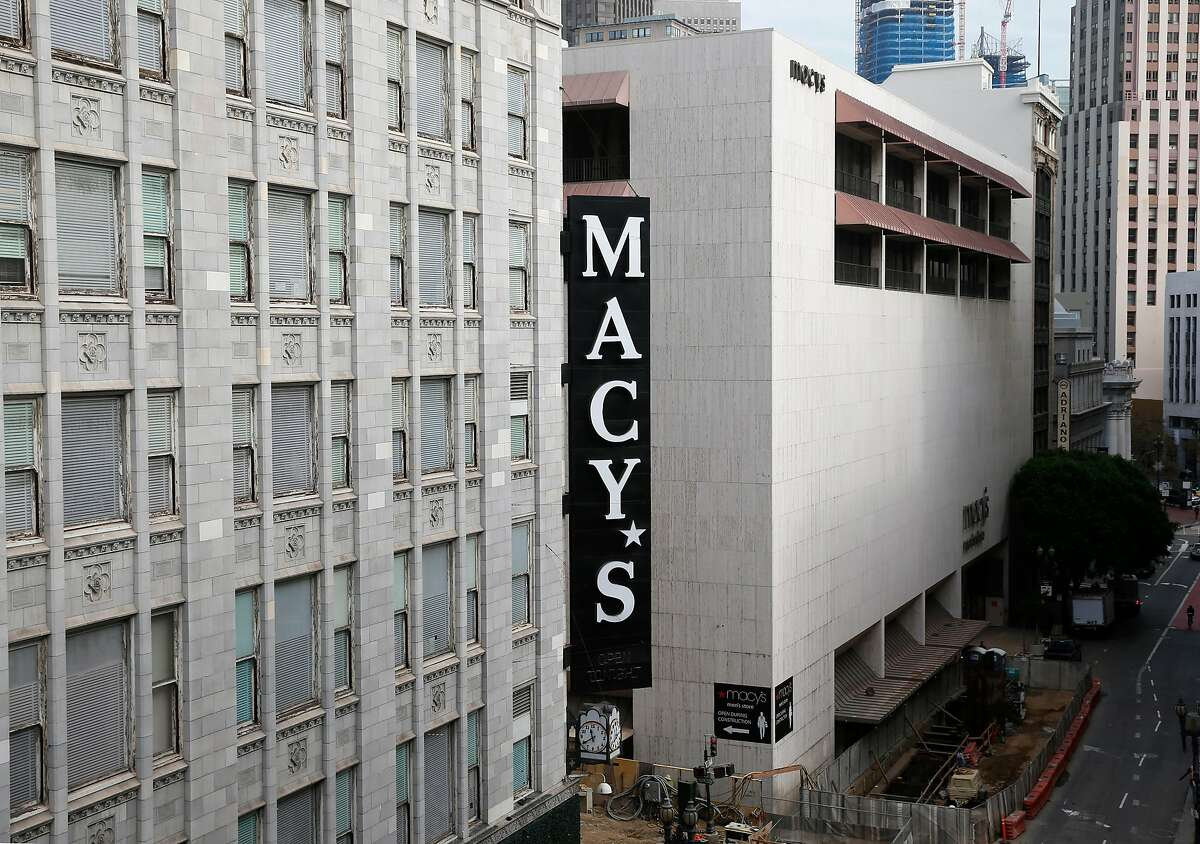 The Macy's store at Stockton and O'Farrell streets in San Francisco.