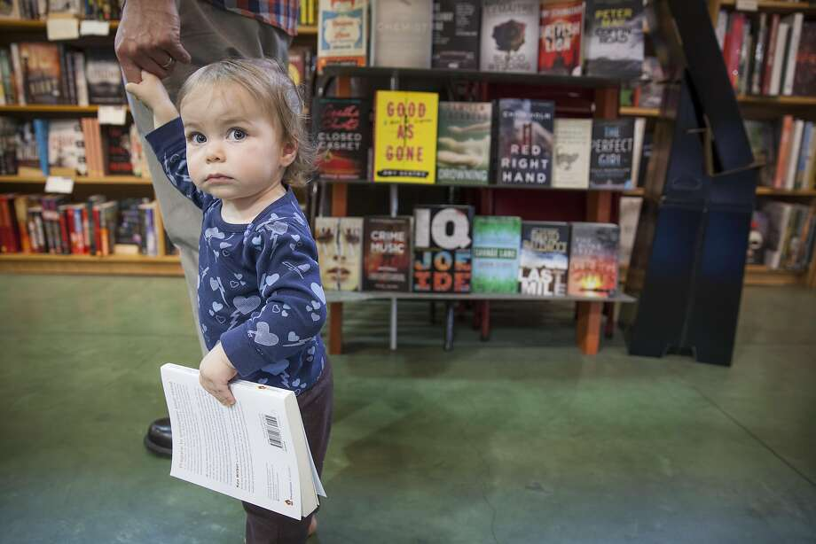 A young bookstore patron at Diesel in Oakland. Photo: Peter DaSilva, Special To The Chronicle