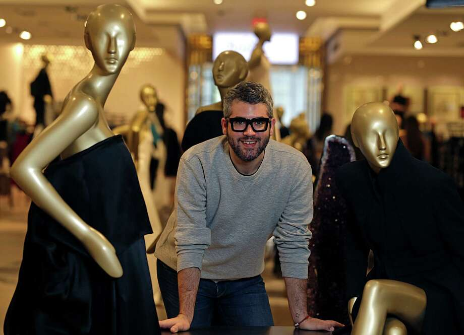 Fashion designer Brandon Maxwell poses for a portrait with his collection in Saks Fifth Avenue Nov. 4, 2016, in Houston. ( James Nielsen / Houston Chronicle ) Photo: James Nielsen, Staff / © 2016  Houston Chronicle