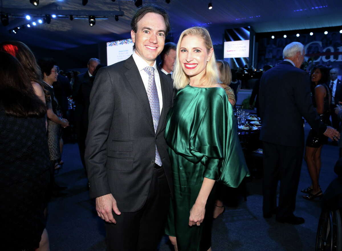 Danny David and Isabel David pose for a photo at the 75th Anniversary Gala of University of Texas MD Anderson Cancer Center Thursday, Nov. 10, 2016, in Houston.