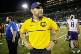 EUGENE, OR - OCTOBER 08:  Head coach Mark Helfrich of the Oregon Ducks looks on after the game against the Washington Huskies on October 8, 2016 at Autzen Stadium in Eugene, Oregon. The Huskies defeated the Ducks 70-21.  (Photo by Otto Greule Jr/Getty Images)