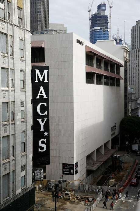 The Macy's men's store is seen at Stockton and O'Farrell streets in San Francisco, Calif. on Friday, Nov. 11, 2016. The building was recently sold raising concerns by some that a high-rise tower will be built on the site. Photo: Paul Chinn, The Chronicle