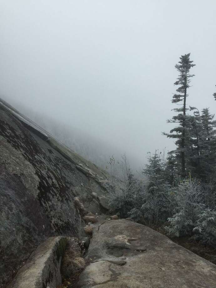 Frost and mist at Shining Rock, Falling Waters Trail, Franconia Notch. Photo: Contributed / Contributed Photo / Contributed photo