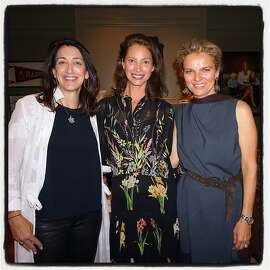Co-host Pamela Baer (left) with Every Mother Counts founder Christy Turlington Burns and Leigh Matthes. Nov 2016.